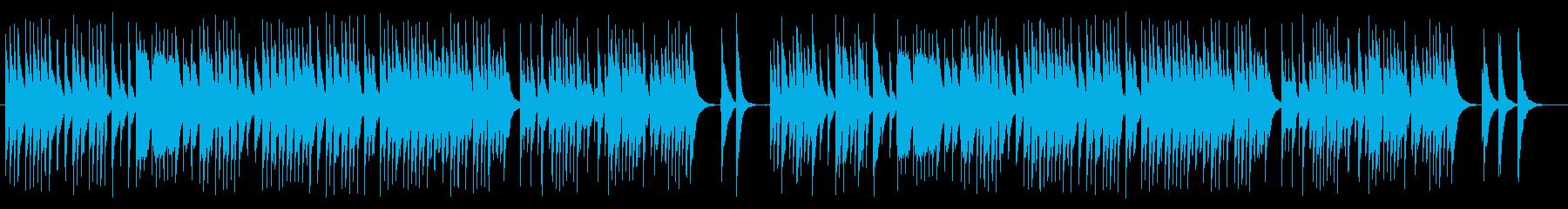 回想シーンに最適な和風テイストの曲の再生済みの波形