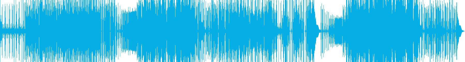 淡々としたダブステップの再生済みの波形