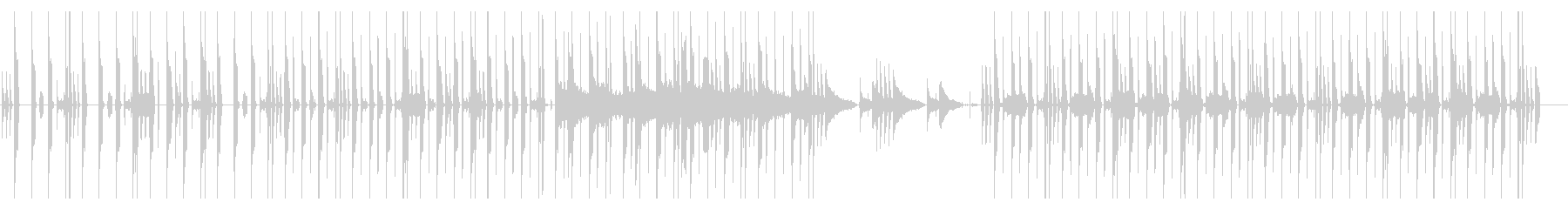 ゆっくりめのLo-fiHOP系の未再生の波形