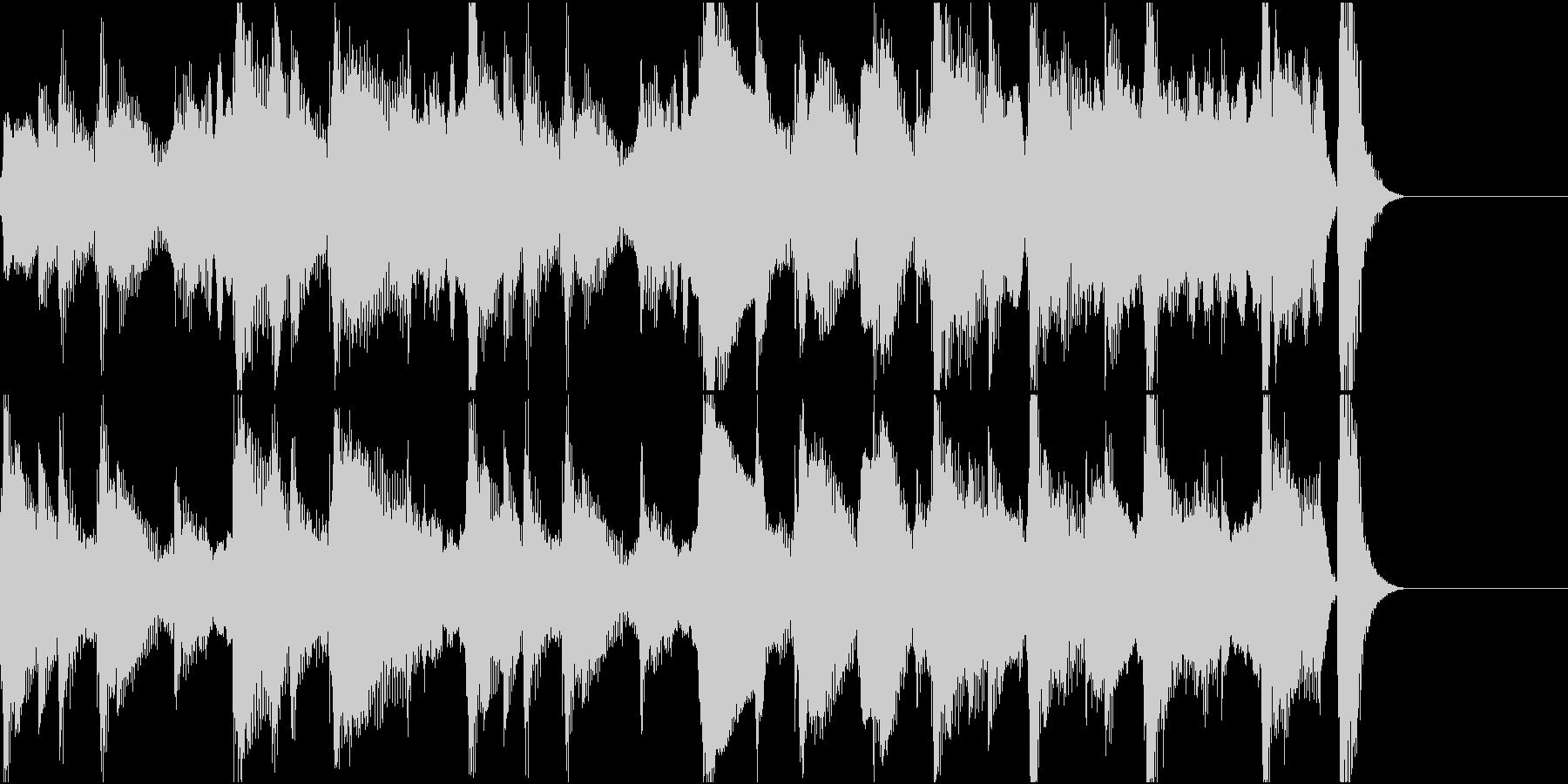ほのぼのした15秒弱のジングルの未再生の波形