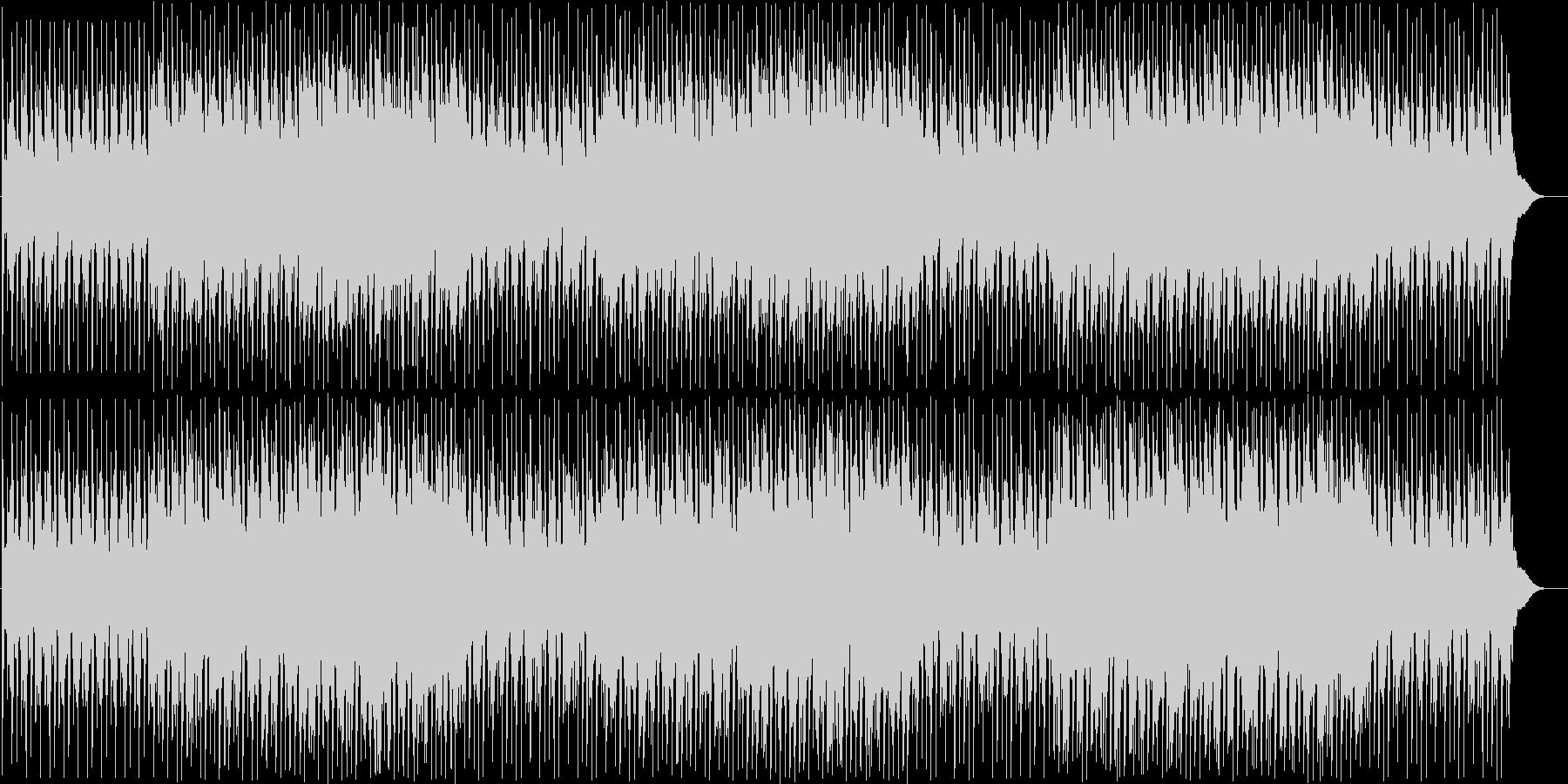 勇ましい和太鼓の連打と三味線の融合した曲の未再生の波形