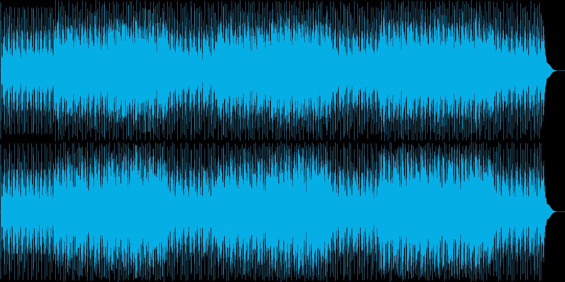 勇ましい和太鼓の連打と三味線の融合した曲の再生済みの波形
