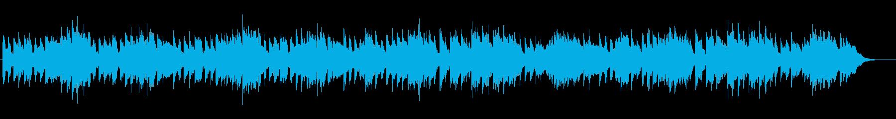 歩くスピードで穏やかなピアノ曲の再生済みの波形