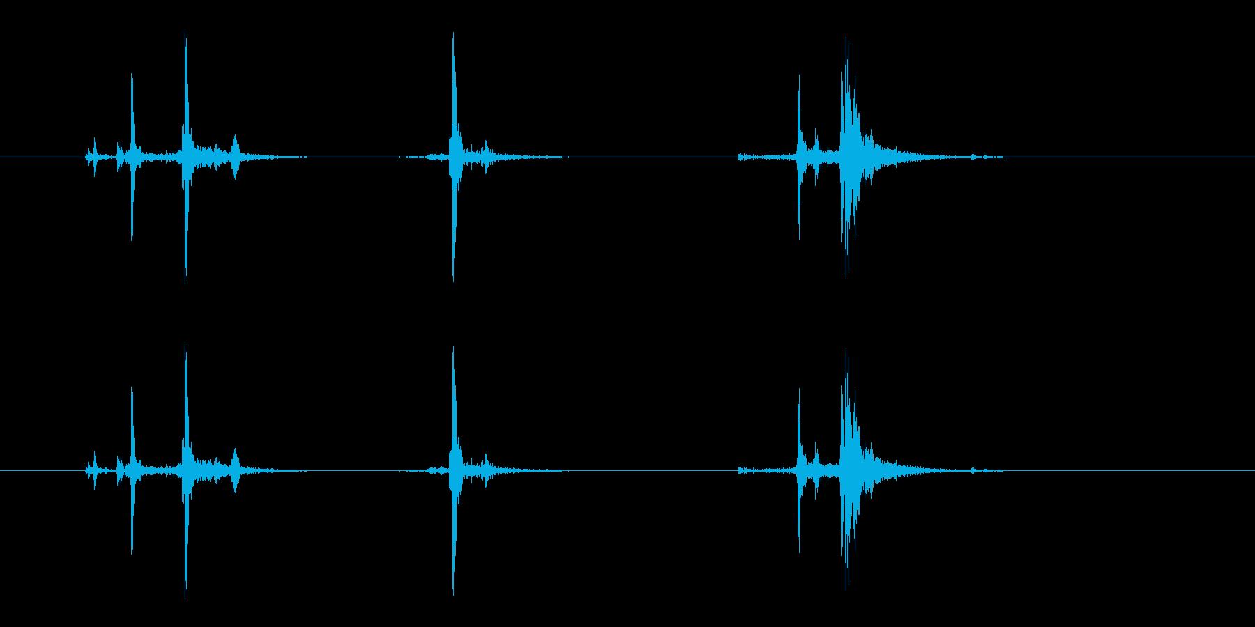 ガシャッ (銃器リロード音.02)の再生済みの波形