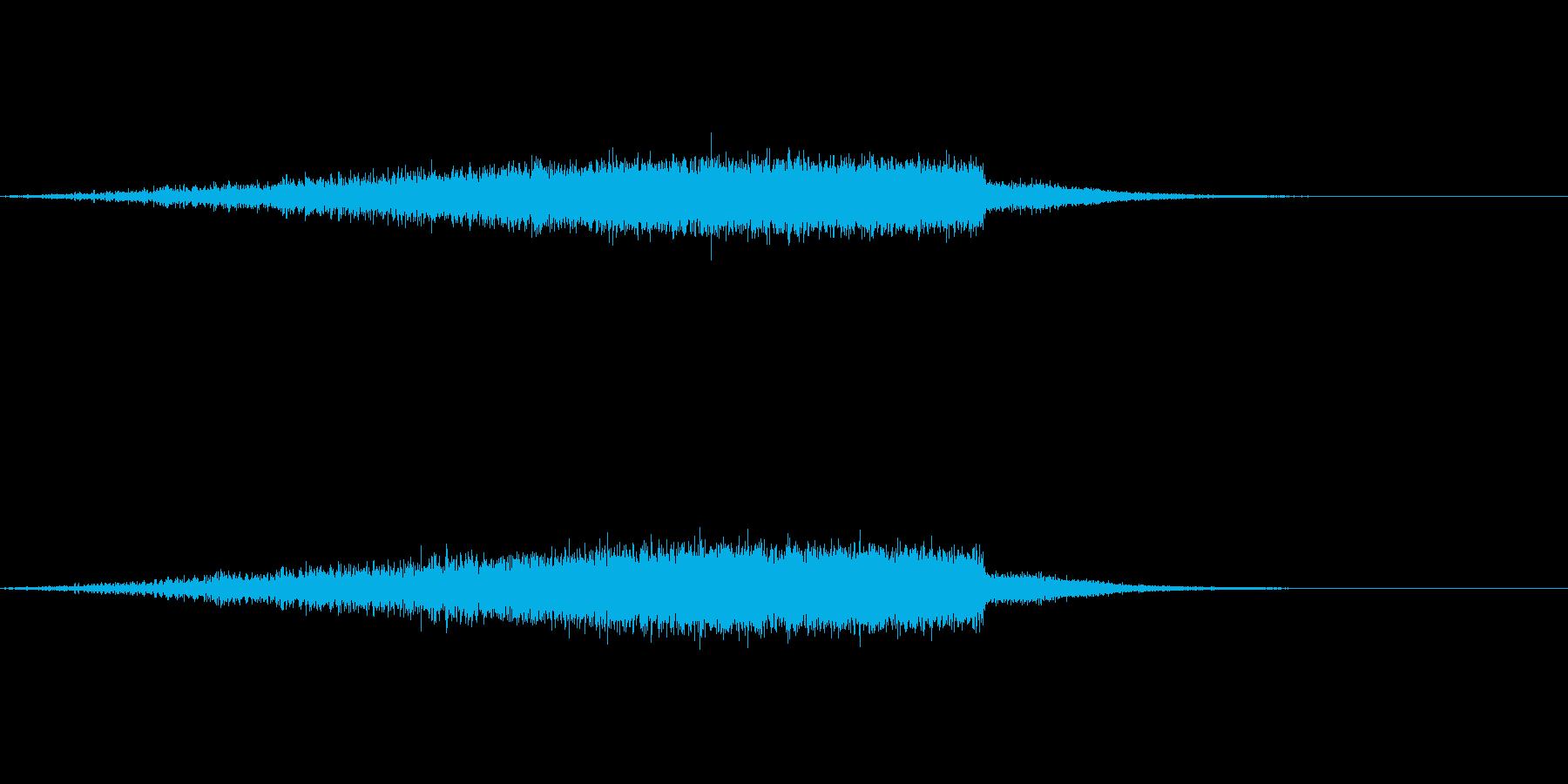 「シュワー(空を飛ぶような音)」の再生済みの波形