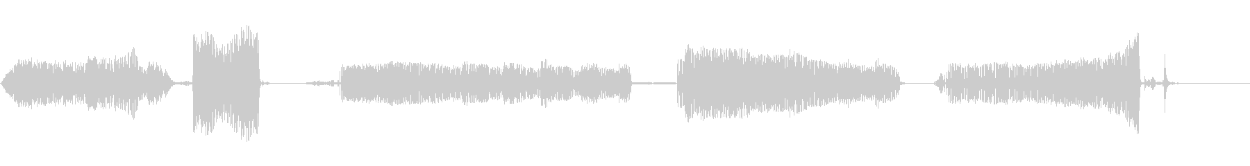 犬のうなり声の未再生の波形