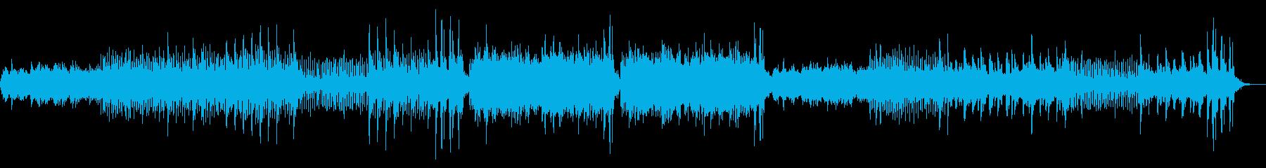 悲しげな三拍子のエレクトロニカの再生済みの波形