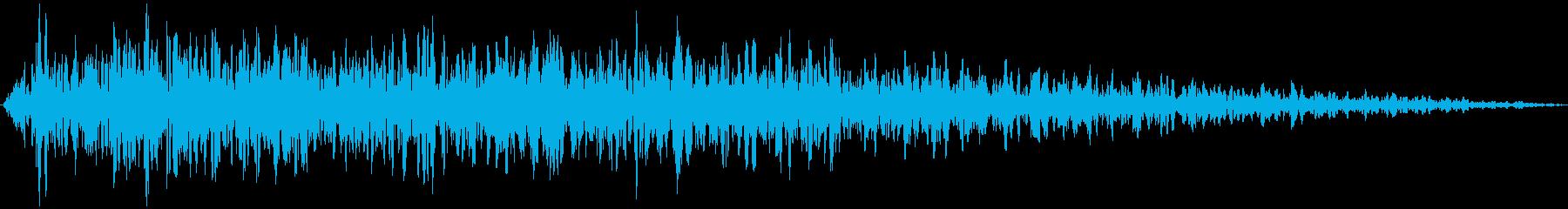 ズーン (ショック、衝撃を受ける) ②の再生済みの波形