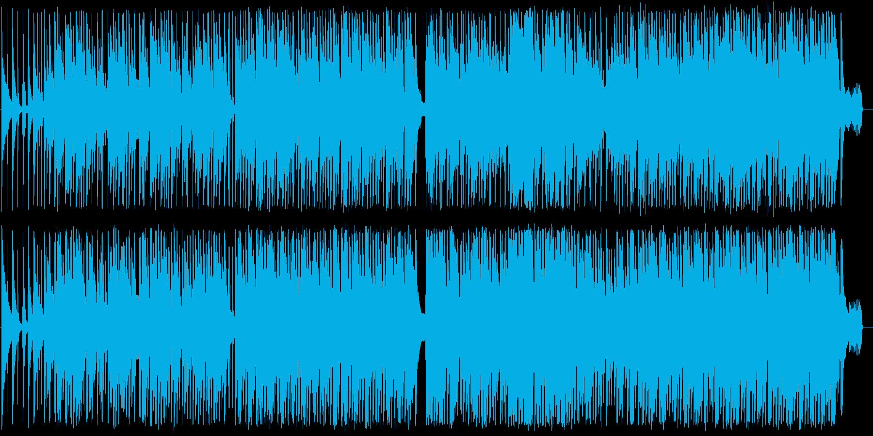 ほのぼのした沖縄風楽曲の再生済みの波形