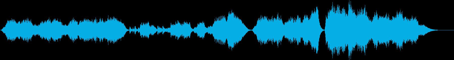 壮大で感動を誘うストリングスの曲の再生済みの波形