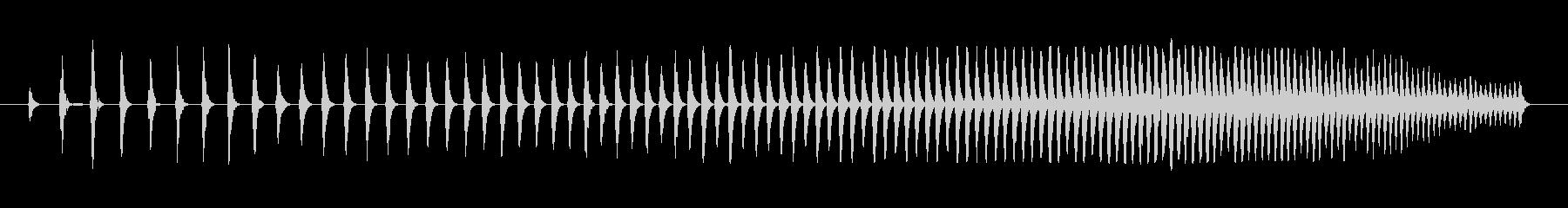 複数のシンセがピッチを上げるテクス...の未再生の波形