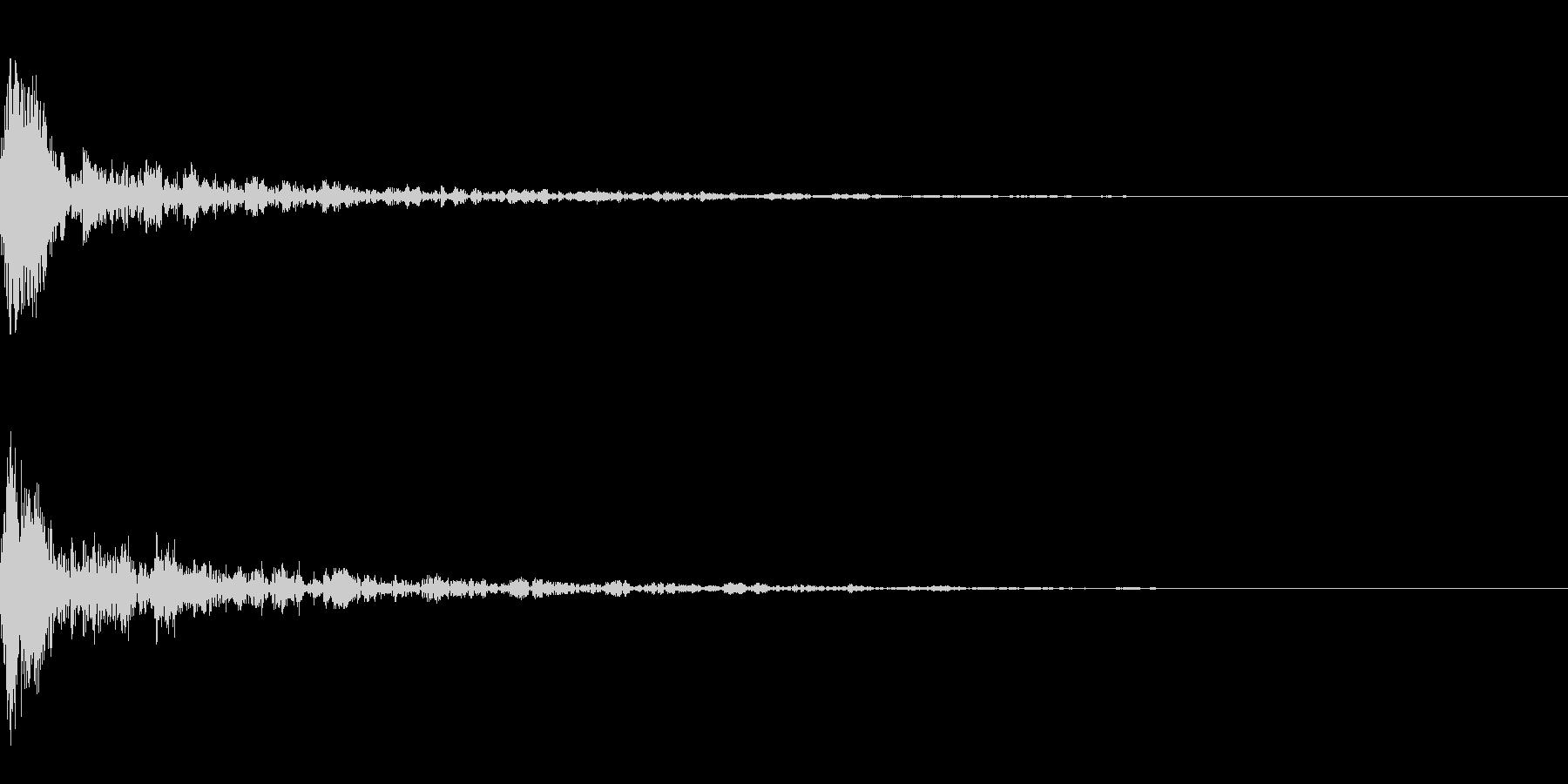 ドーン-16-1(インパクト音)の未再生の波形
