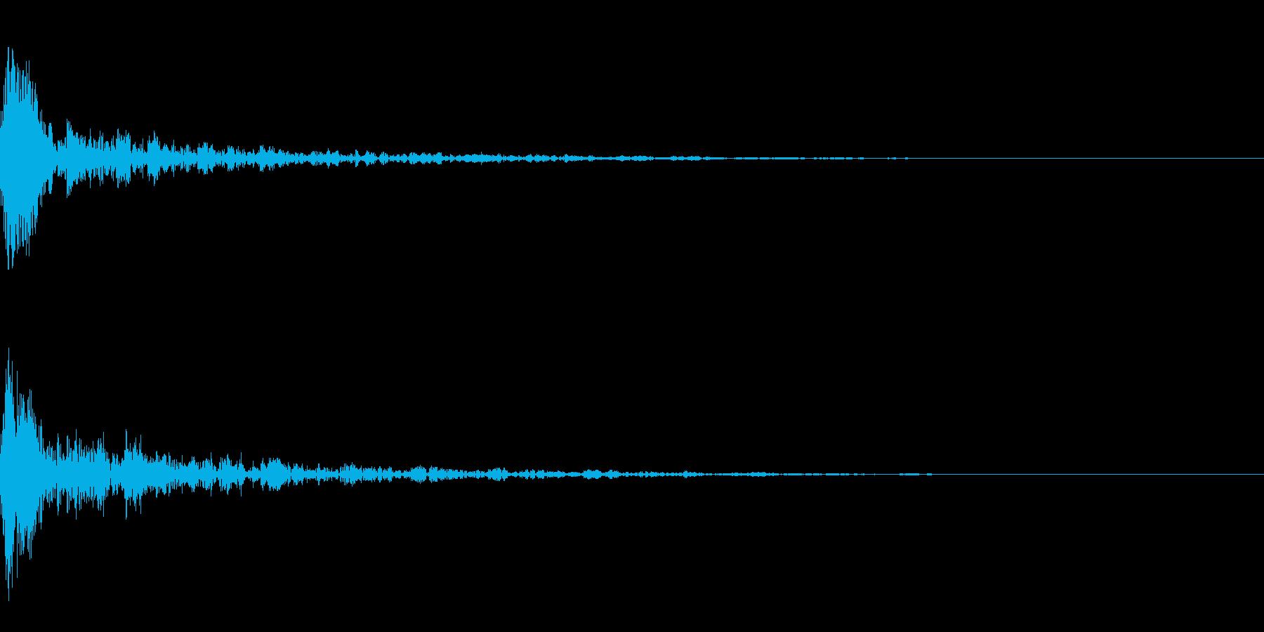 ドーン-16-1(インパクト音)の再生済みの波形