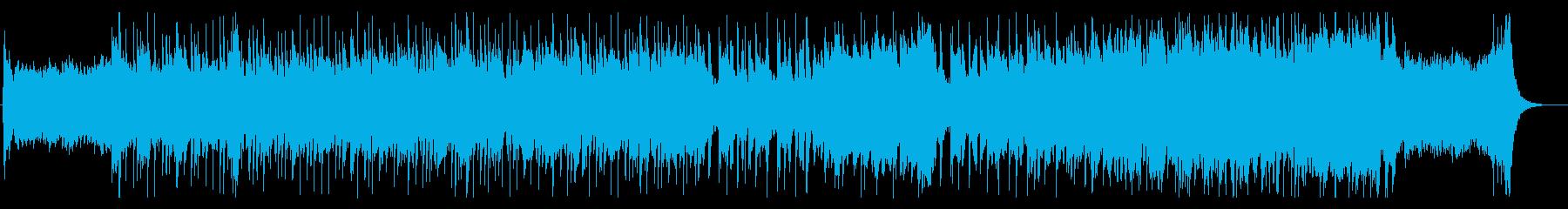 明るくアップテンポのオーケストラの曲の再生済みの波形