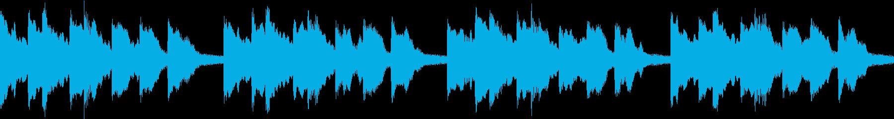 シンプル ベル 着信音 チャイム B15の再生済みの波形