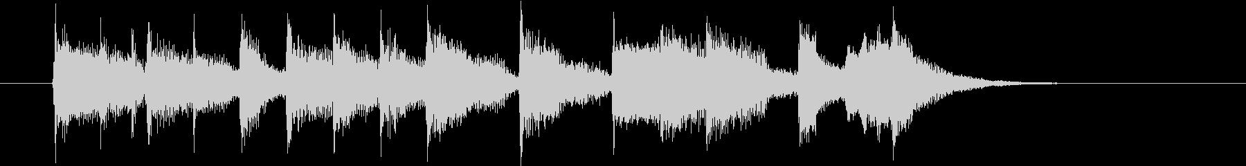 のどかな音色のジングル、サウンドロゴの未再生の波形
