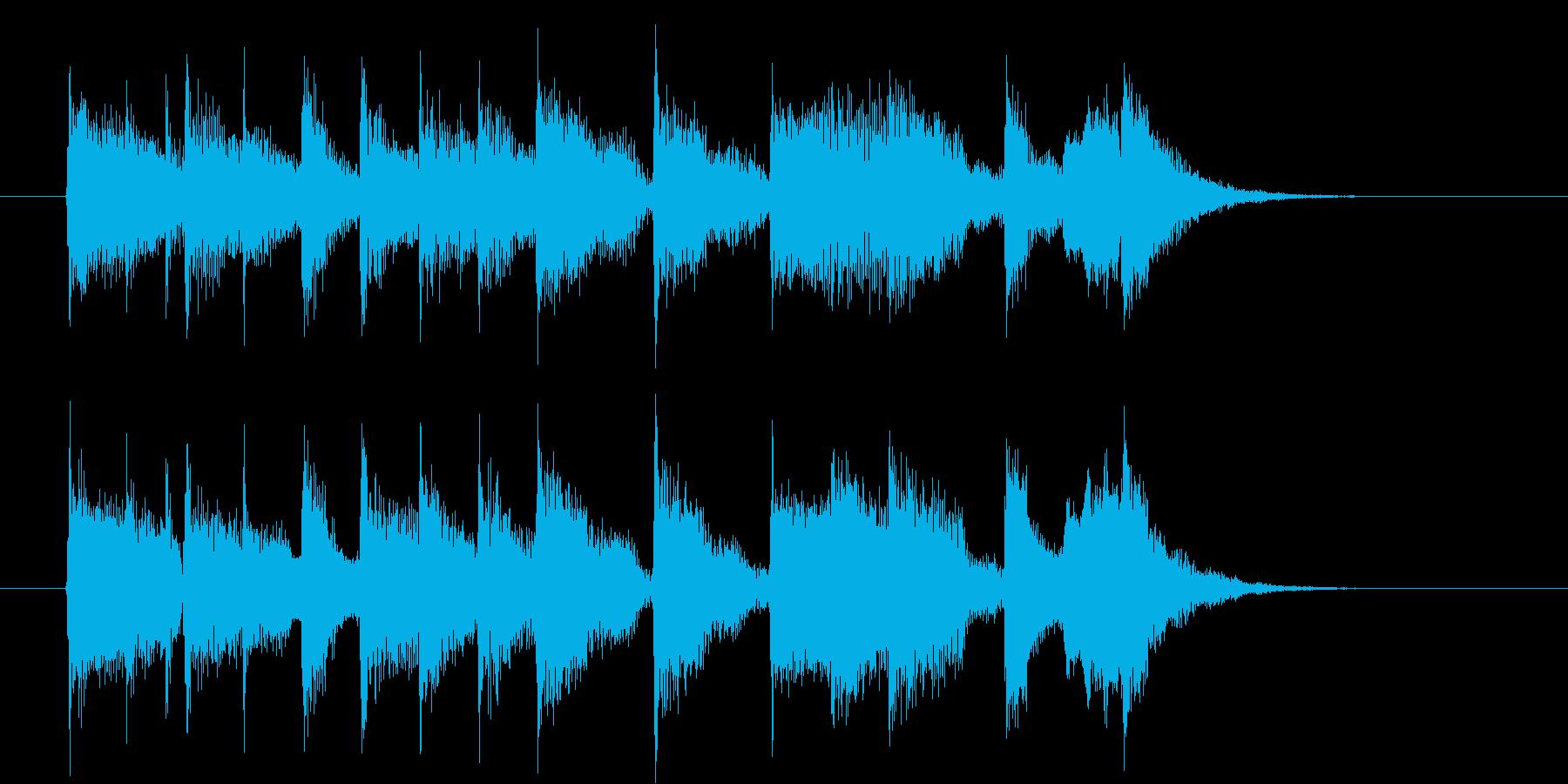 のどかな音色のジングル、サウンドロゴの再生済みの波形