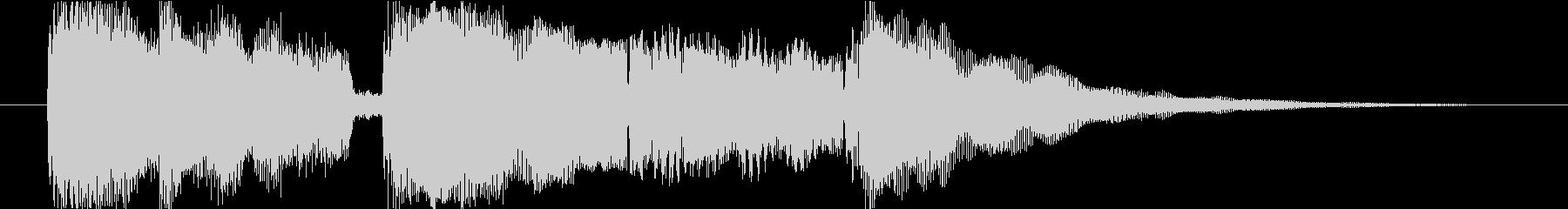 クリーンギターの穏やかなジングルの未再生の波形