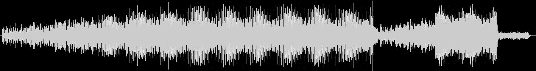 軽快なリズムの幻想的な曲の未再生の波形