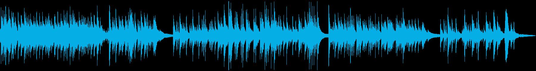 緩やかで優しいアコースティック音楽の再生済みの波形