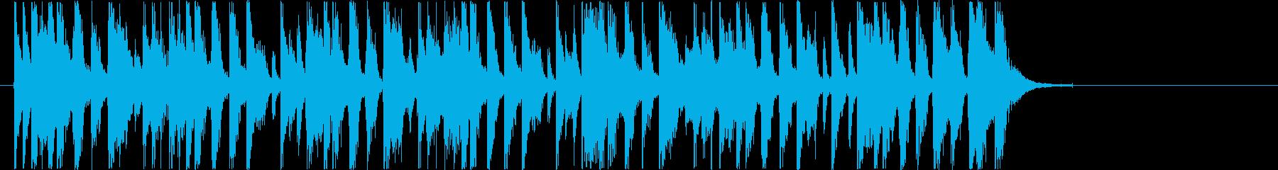 軽快でリズミカルなエレキポップジングルの再生済みの波形