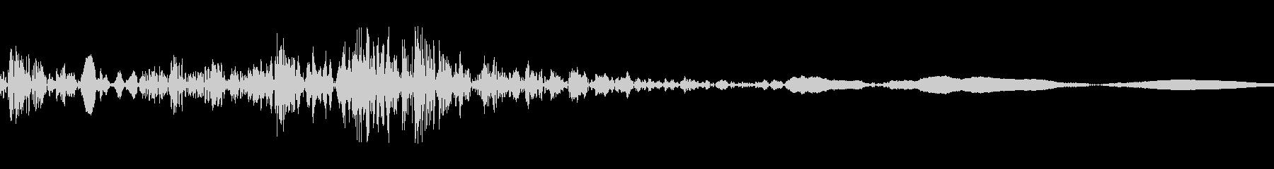 ドアノブをガチャっとする音の未再生の波形