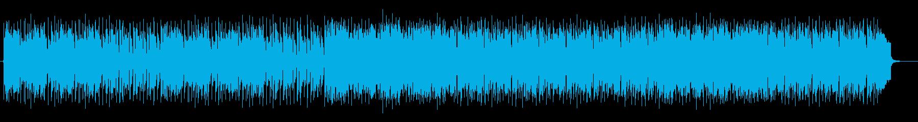 心地よくリピートされるシンセミュージックの再生済みの波形