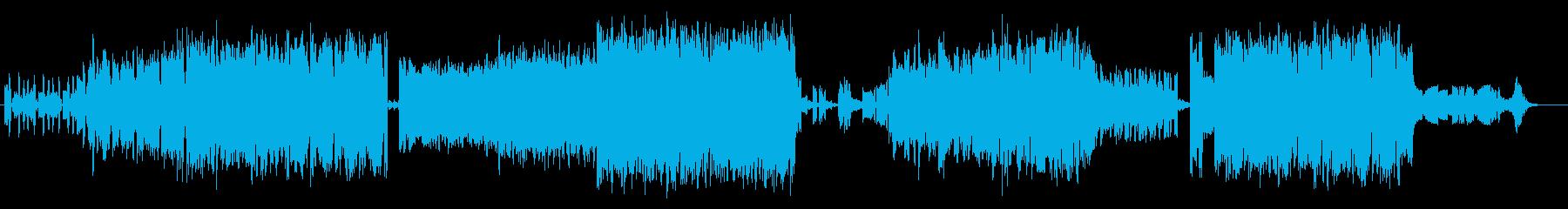 戦闘BGM的なかっこいいシンセサウンドの再生済みの波形
