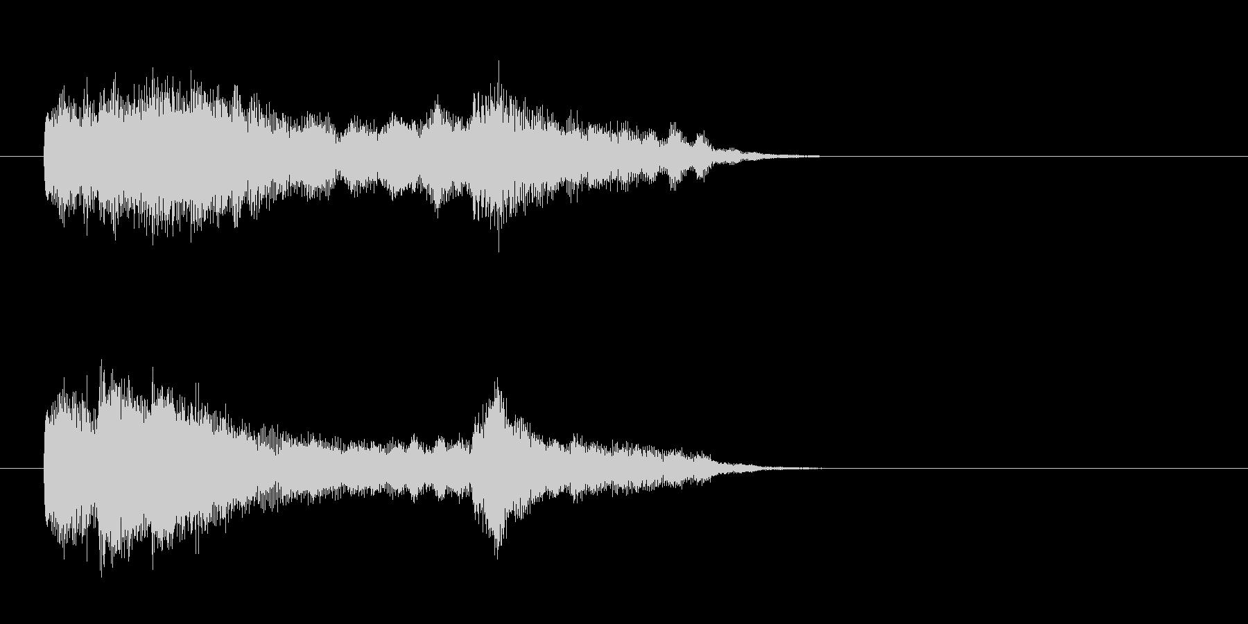 ジングル(SEタイプ)の未再生の波形