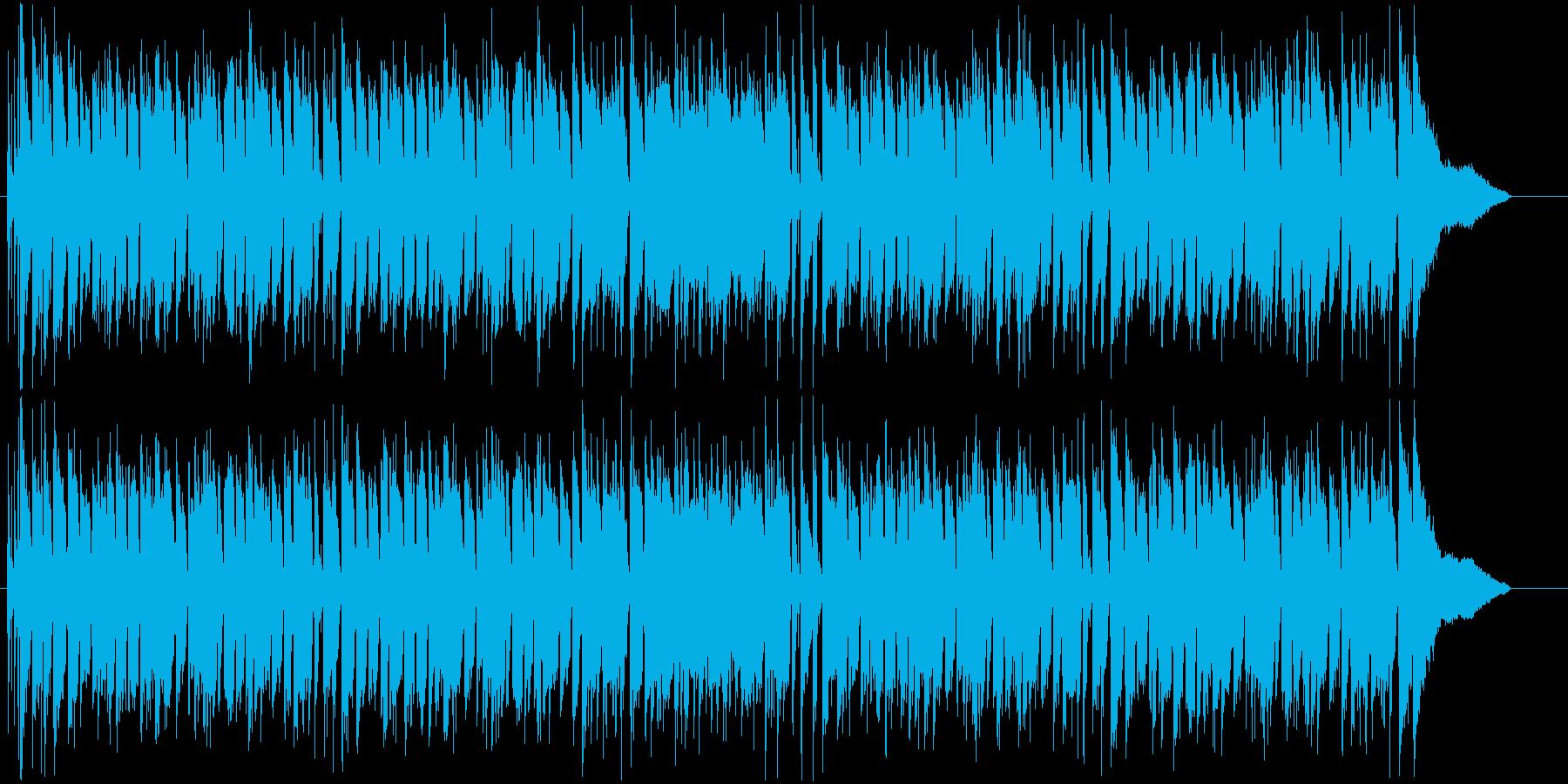 ピアノ伴奏をメインにしたジャズ風BGMの再生済みの波形