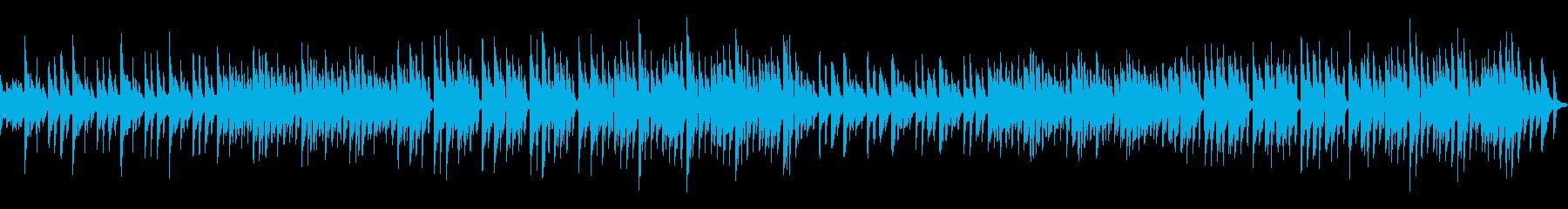 ゆっくりふんわりしたハンドベルの曲の再生済みの波形