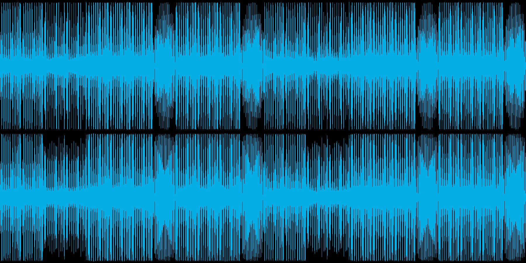 【緊迫感のあるピアノポップス】の再生済みの波形