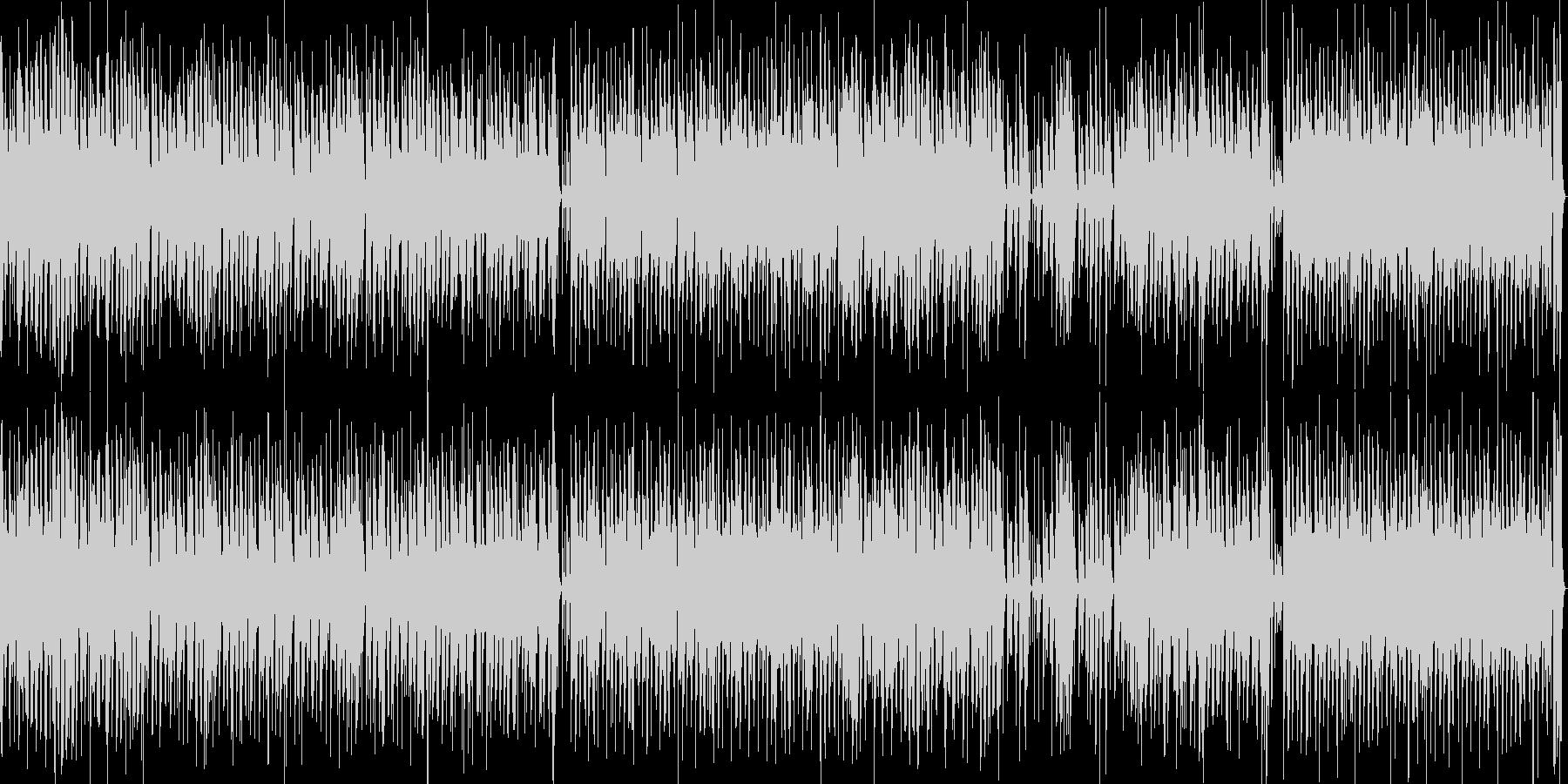 アフリカやインディアン調の明るいループ曲の未再生の波形