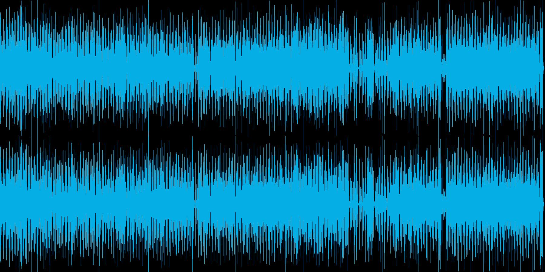 アフリカやインディアン調の明るいループ曲の再生済みの波形