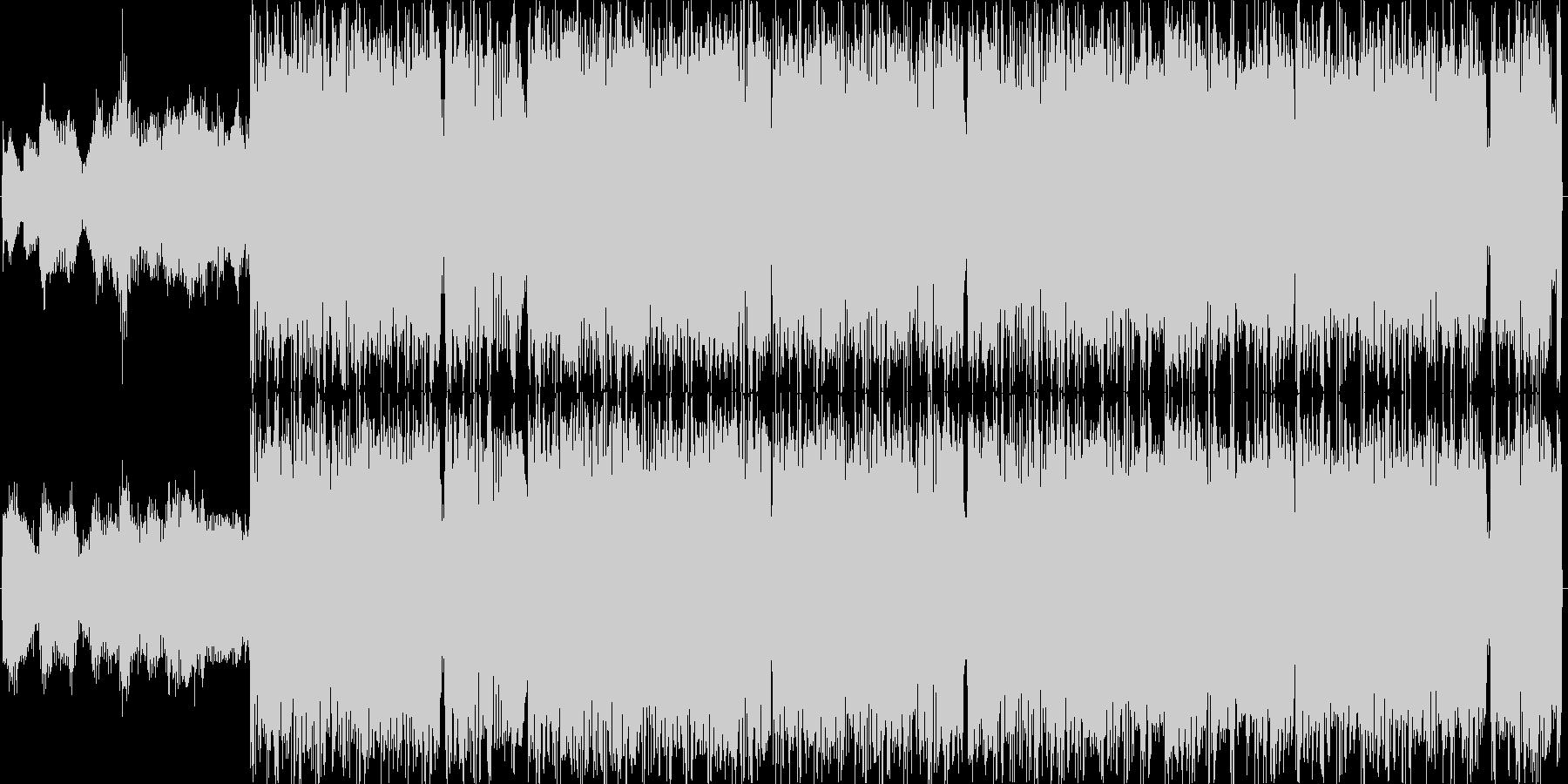 細かく動くドラムンベースの未再生の波形