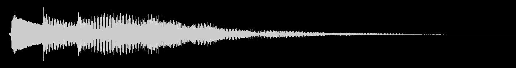 アプリ用サウンドエフェクトです。の未再生の波形