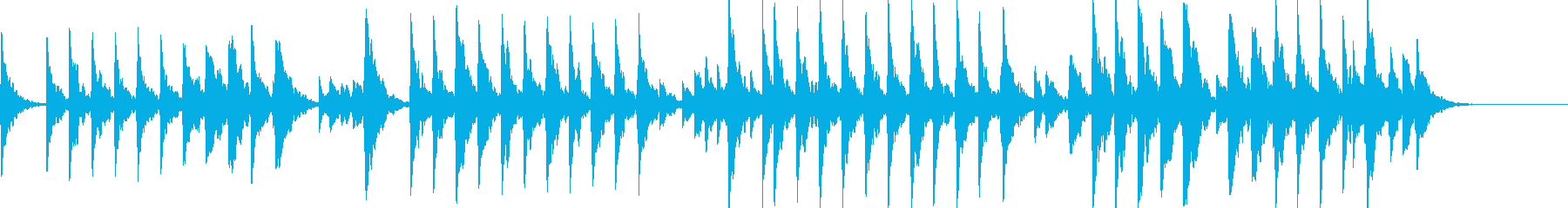 童謡「夕焼け小焼け」オルゴールbpm76の再生済みの波形