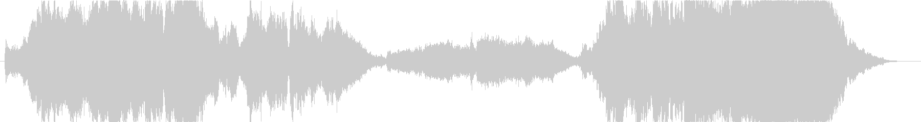 序曲的な華やかなオーケストラの未再生の波形