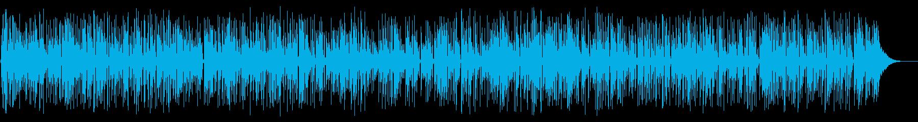 ほのぼのしたアコースティックギターデュオの再生済みの波形