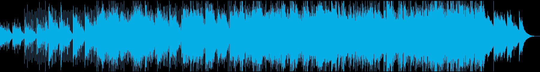 ふんわりとしたアコギのリラックス曲の再生済みの波形