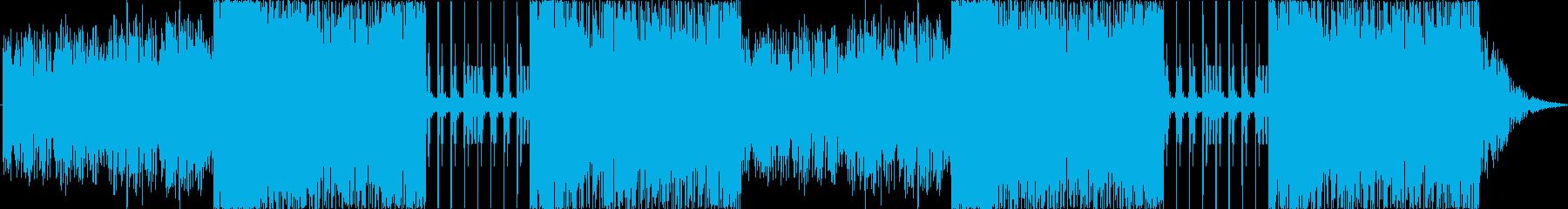 シンセを使用した非日常っぽい雰囲気の曲…の再生済みの波形
