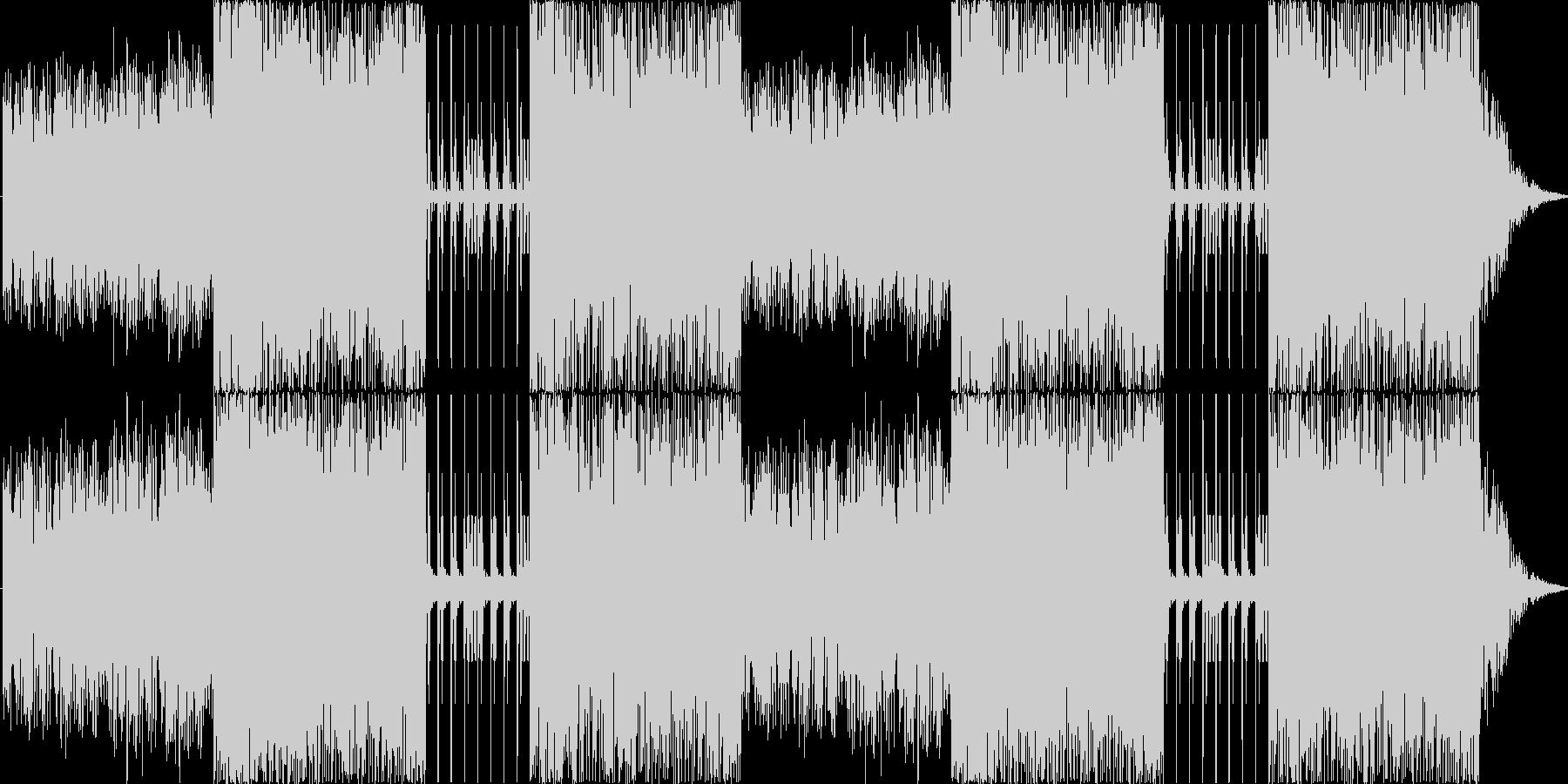 シンセを使用した非日常っぽい雰囲気の曲…の未再生の波形