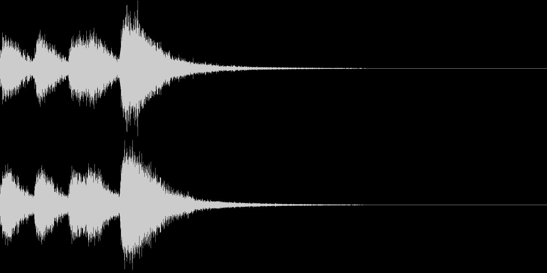 オーケストラヒット ジングル! 04+の未再生の波形