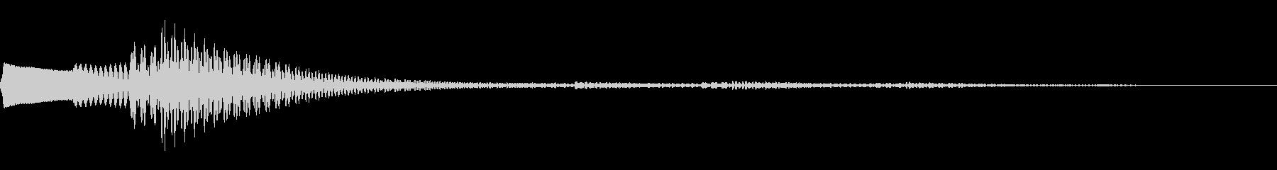 ピロロロン♪(決定系ボタン)の未再生の波形