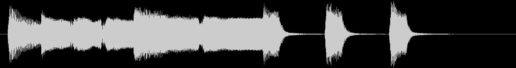 ほのぼのしたリコーダーとピアノのジングルの未再生の波形