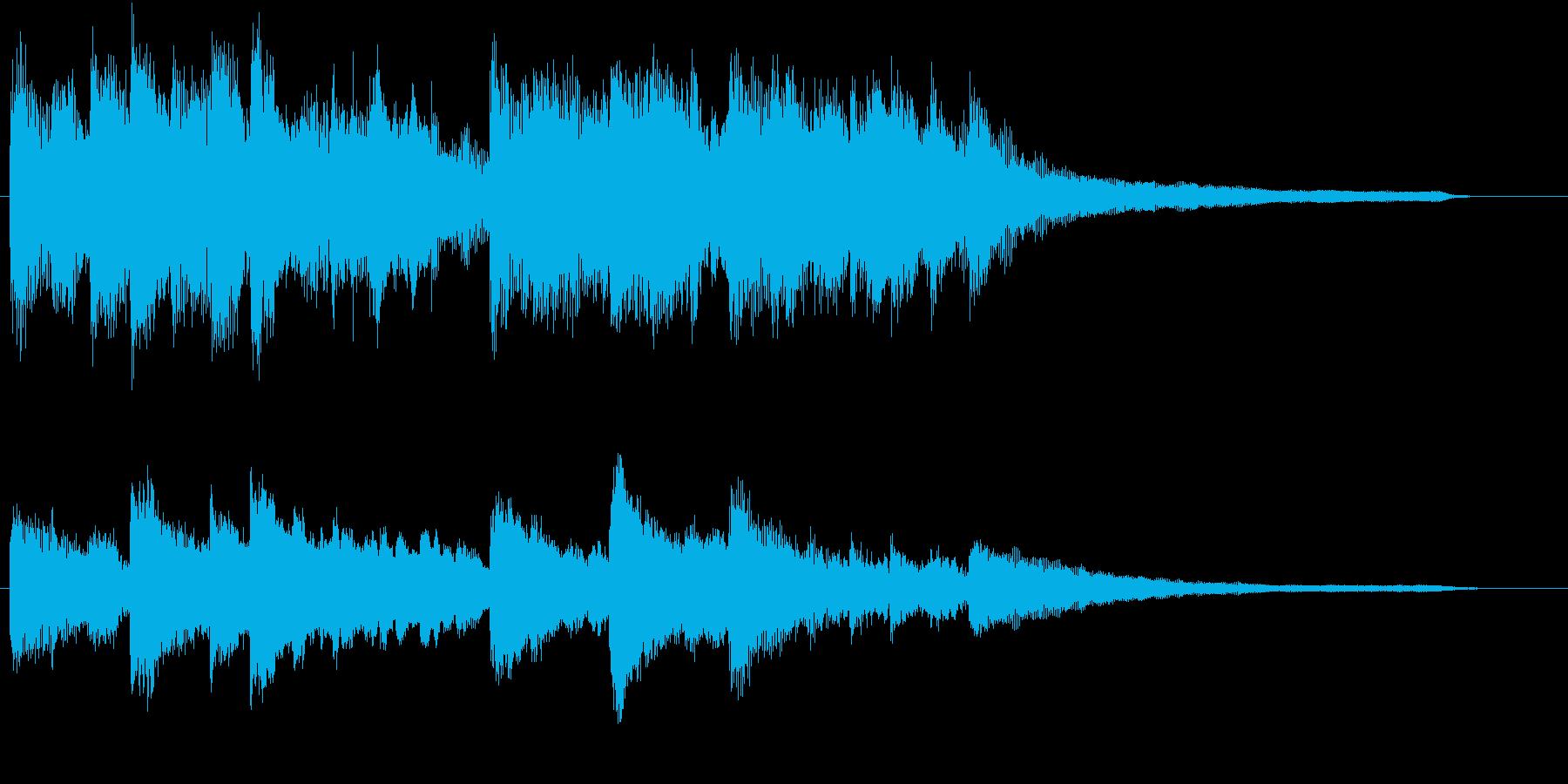 美しくロマンチックなロゴ・ジングルの再生済みの波形