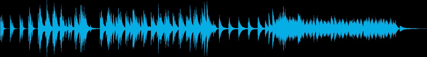 偉大なる揺り籠のピアノの再生済みの波形