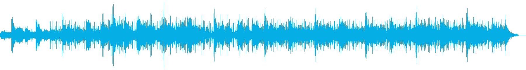 おしゃれで夜の雰囲気なメロディーの再生済みの波形