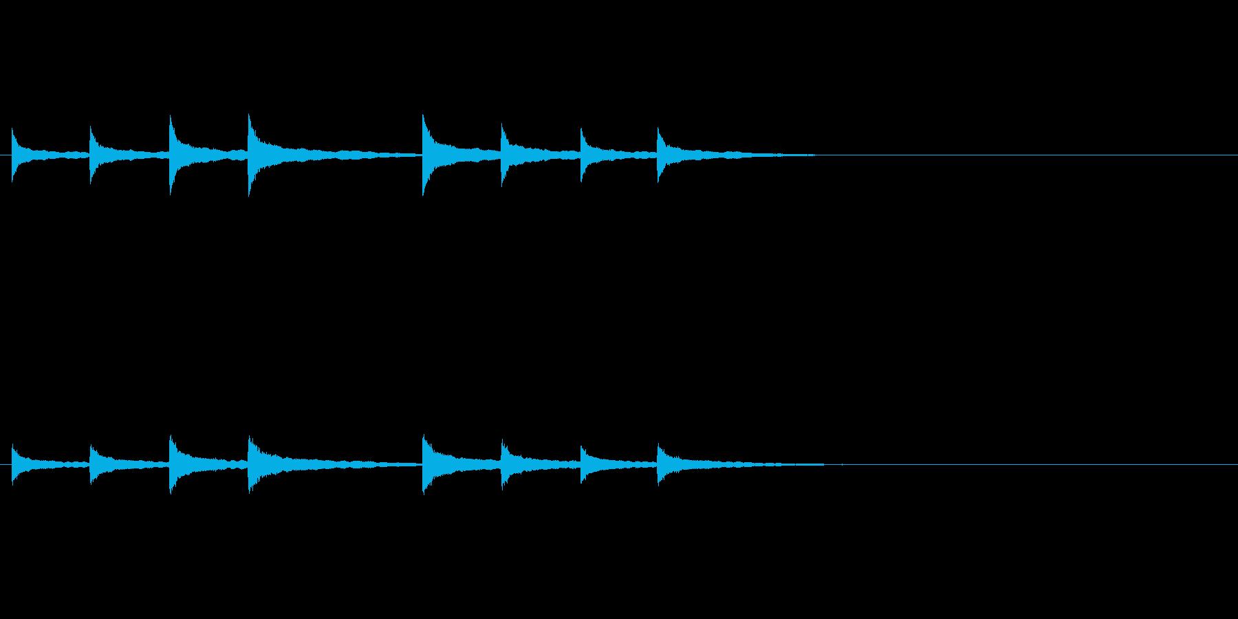 マントル時計鳴りの再生済みの波形