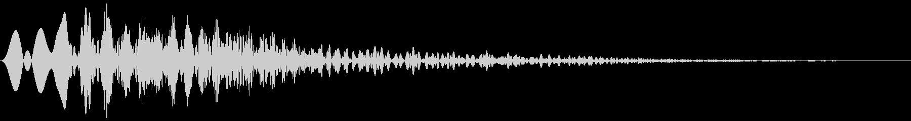 カーソル・決定・キャンセル音 「ピョイ」の未再生の波形